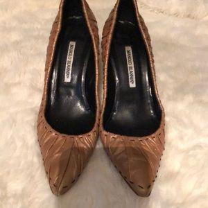 Gold and Black Manolo Blahnik Heels